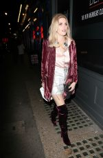 ASHLEY JAMES Arrives at Lights of Soho for Ger DJ Slot in London 11/24/2016
