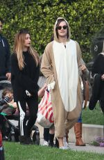 ASHLEY TISDALE Out Trick or Treating on Halloween in Toluca Lake 10/31/2016