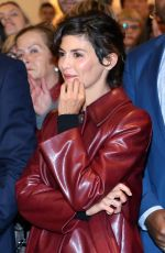 AUDREY TAUTOU at Galeries Lafayette Haussmann Christmas Lights Switch in Paris 11/08/2016
