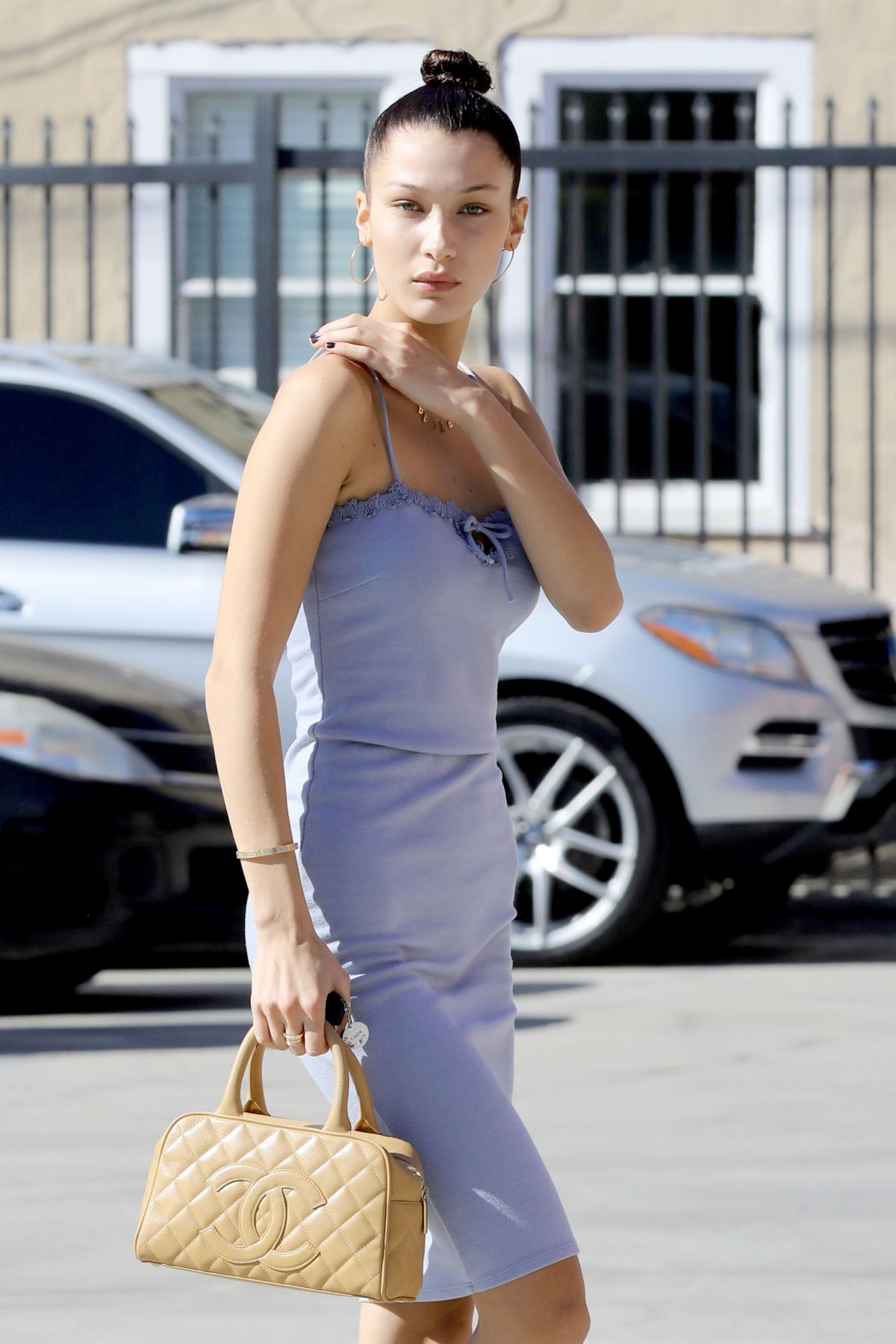BELLA HADID Arrives at a Studio for a Photoshoot in Los Angeles 11/09/2016