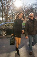 BELLA HADID Arrives at Grand Palais in Paris 11/28/2016