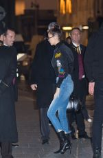 BELLA HADID Arrives at Her Hotel in Paris 11/27/2016