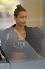 BELLA HADID at a Gym in New York 11/21/2016