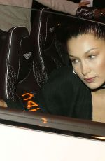 BELLA HADID at Catch LA in West Hollywood 11/05/2016