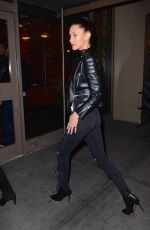 BELLA HADID Heading to UFC 205 at Madison Square Garden in New York 11/12/2016