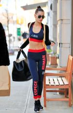 BELLA HADID Heading to a Gym in New York 11/12/2016