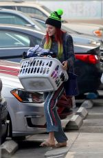 BELLA THORNE at a Laundromat in Los Angeles 11/16/2016