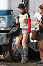 BELLA THORNE in Denim Shorts Out in Los Angeles 11/12/2016