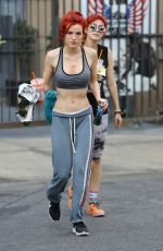 BELLA THORNE in Sports Bra Leaves a Gym in Hollywood 11/15/2016