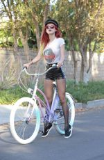 BELLA THORNE Out for a Bike Ride in Los Angeles 11/20/2016