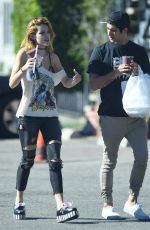 BELLA THORNE Out Picking Up Lunch in Los Angeles 11/02/2016