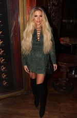 BIANCA GASCOIGNE at Frankie Essex Fitness DVD Launch Party in London 11/15/2016