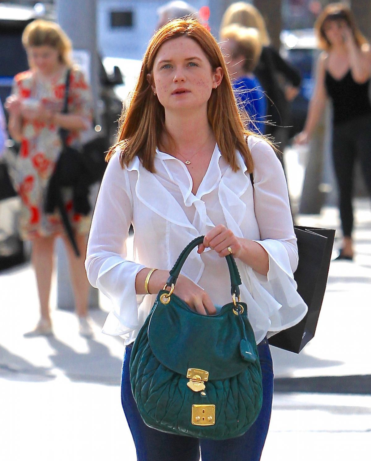 BONNIE WRIGHT Out and About in Beverly Hills 09/26/2016