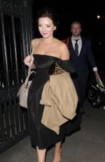 CANDICE BROWN Leaves OK! Magazine Beauty Awards in London 11/24/2016