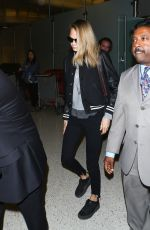CARA DELEVINGNE at Los Angeles International Airport 11/12/2016