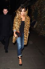 CAROLINE FLACK Arrives at Ivy Club in Chelsea 11/23/2016