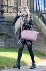 CATHERINE TYLDESLEY on the Set of