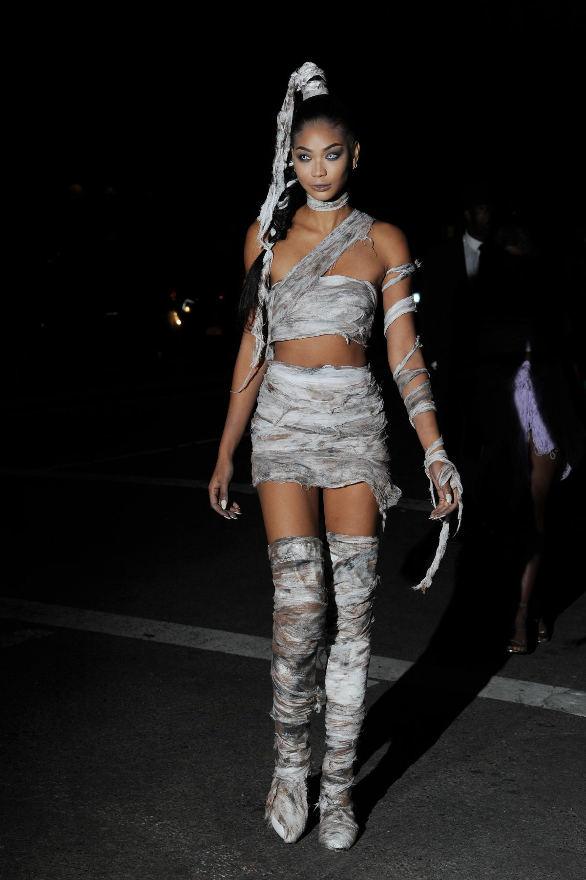 CHANEL IMAN at Heidi Klum's 17th Annual Halloween Bash in New York 10/31/2016