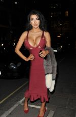 CHLOE KHAN Out for Dinner in Mayfair 11/28/2016