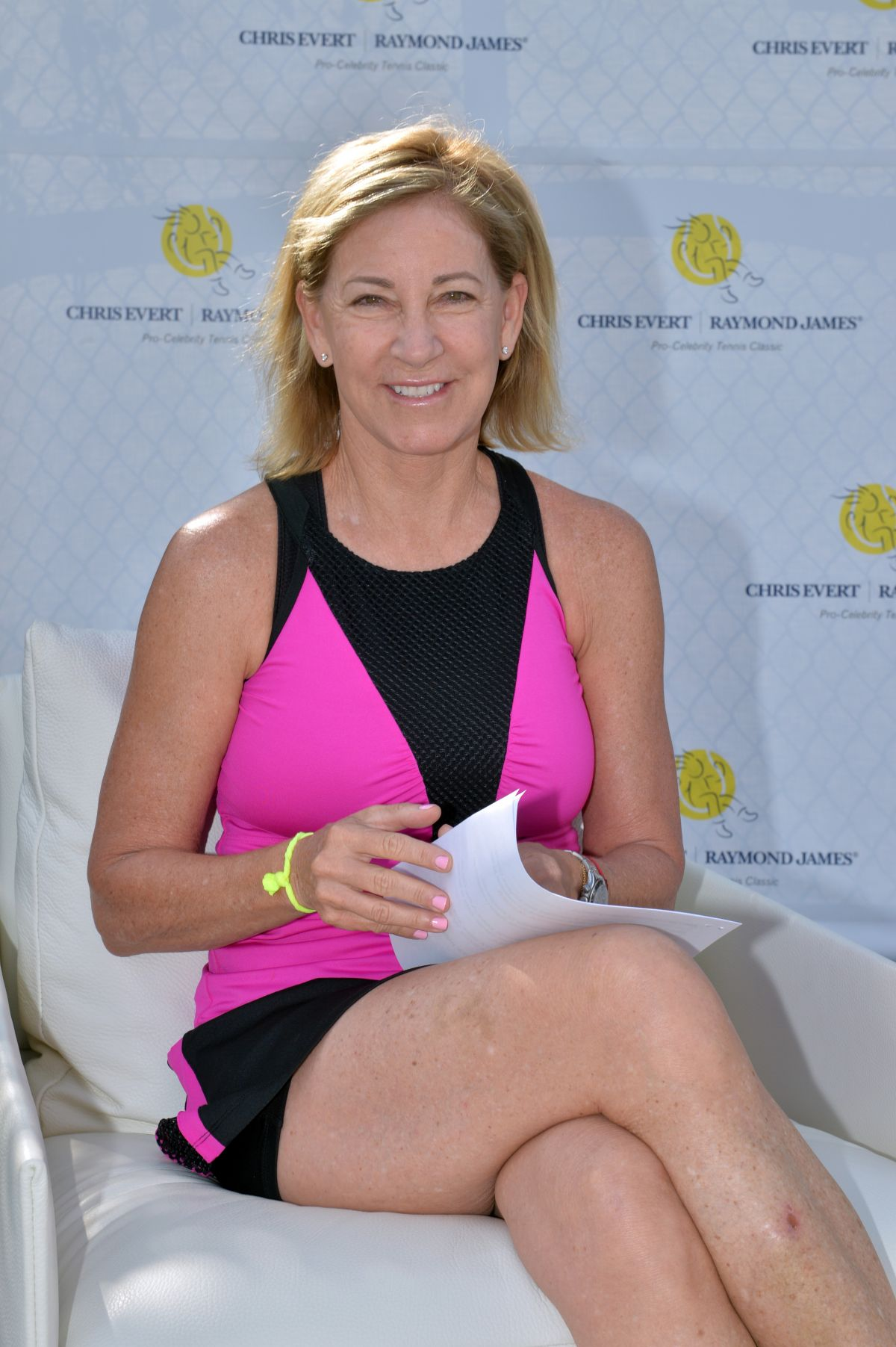 CHRIS EVERT at 27th Annual Chris Evert/Raymond James Pro-celebrity Tennis Classic Media Day at Boca Raton 11/18/2016