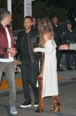 CHRISSY TEIGEN Arrives at Kanye West