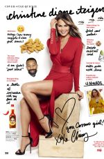 CHRISSY TEIGEN in Cosmopolitan Magazine, December 2016 Issue