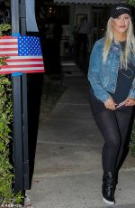 CHRISTINA AGUILERA at a Beverly Hills Polling Station 11/08/2016