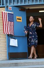 CHRISTINA MILIAN Out Voting in Los Angeles 11/08/2016