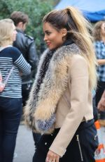CIARA on the Set of a Music Video in Madison Square Park in New York 11/03/2016