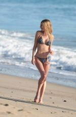 CLAUDIA COUTURE in Bikini on the Set of a Photoshot at a Beach in Los Angeles 11/22/2016
