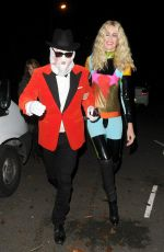 CLAUDIA SCHIFFER at Jonathan Ross Halloween Party 10/31/2016
