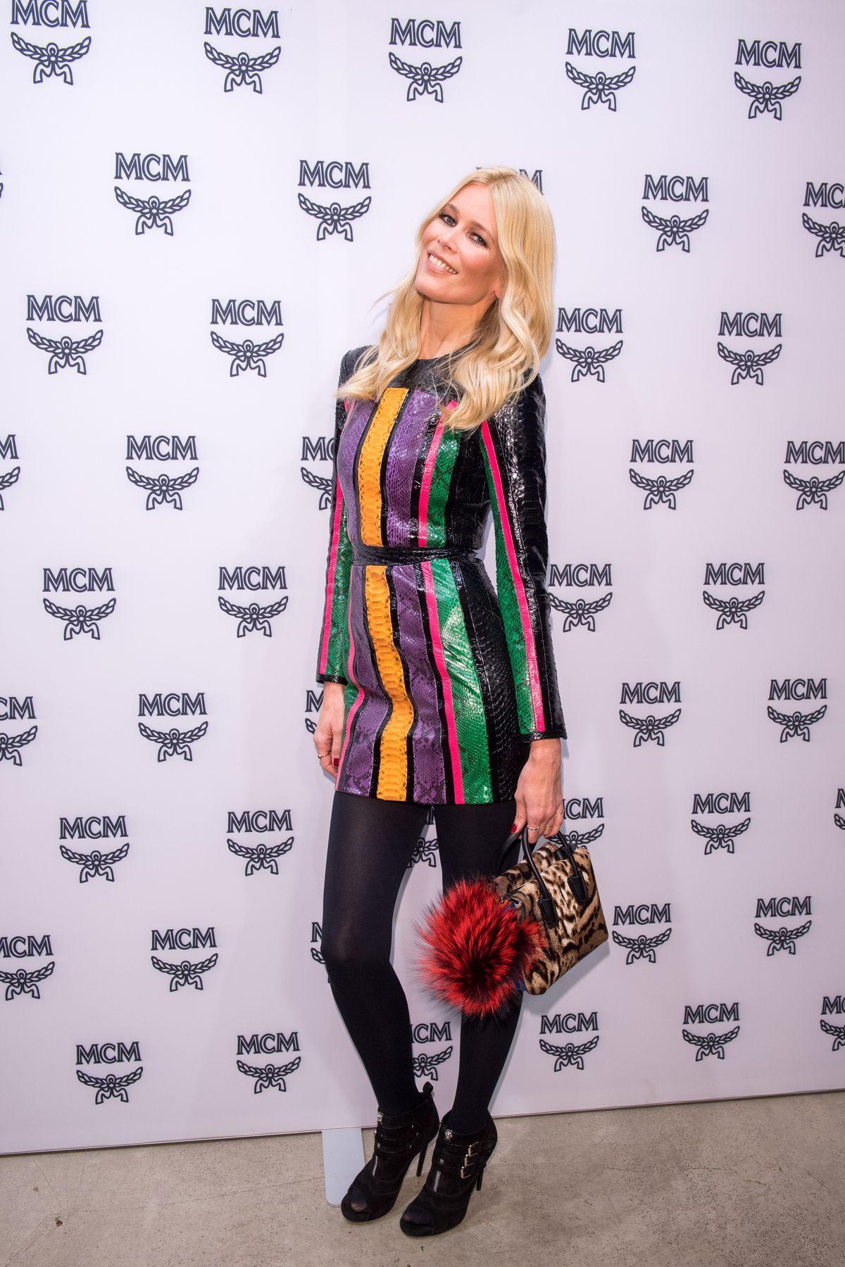 CLAUDIA SCHIFFER at MCM Luxury Birthday Party in Munich 11/17/2016