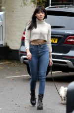 DAISY LOWE Out and About in London 11/14/2016