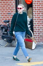 DAKOTA FANNING Out and About in New York 10/31/2016