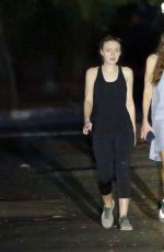 DAKOTA FANNING Out at Coldwater Canyon Park in Los Angeles 11/10/2016