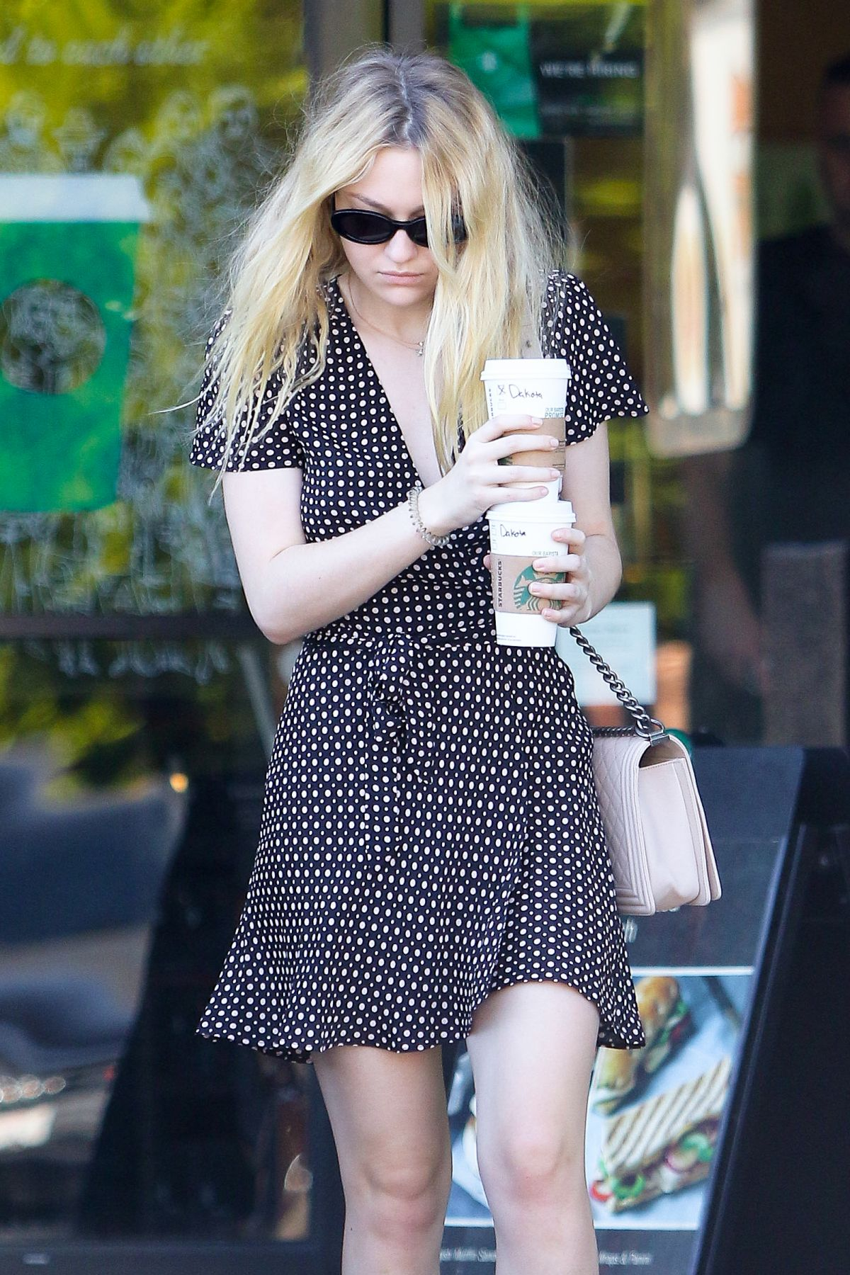 DAKOTA FANNING Out for Coffee in Studio City 11/08/2016