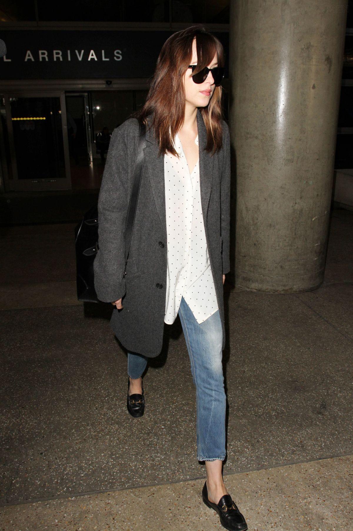 DAKOTA JOHNSON at Los Angeles Intenational Airport 11/04/2016