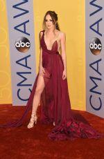 DANIELLE BRADBERY at 50th Annual CMA Awards in Nashville 11/02/2016