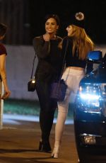 DEMI LOVATO and BELLA THORNE Leaves Urth Cafe in Los Angeles 11/13/2016