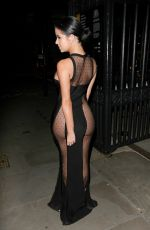 DEMI ROSE Leaves Beauty Awards in London 11/24/2016