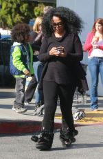 DIANA ROSS Shopping at Bristol Famrs in West Hollywood 11/23/2016