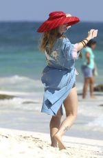 DREW BARRYMORE in Bikini Bottom on the Beach in Tulum 11/18/2016