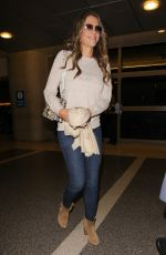 ELIZABETH HURLEY Arrives at LAX Airport in Los Angeles 11/17/2016
