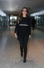 ELIZABETH HURLEY at Heathrow Airport in London 11/15/2016