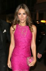 ELIZABETH HURLEY Night Out in London 10/31/2016