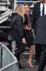 ELLA PURNELL and CHLOE MORETZ at Jimmy Kimmel Live in Hollywood 11/03/2016