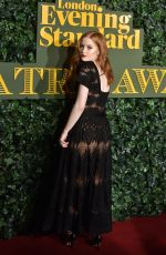 ELLIE BAMBER at Evening Standard Theatre Awards in London 11/13/2016