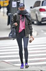 ELSA HOSK Heading to a Gym in New York 11/25/2016