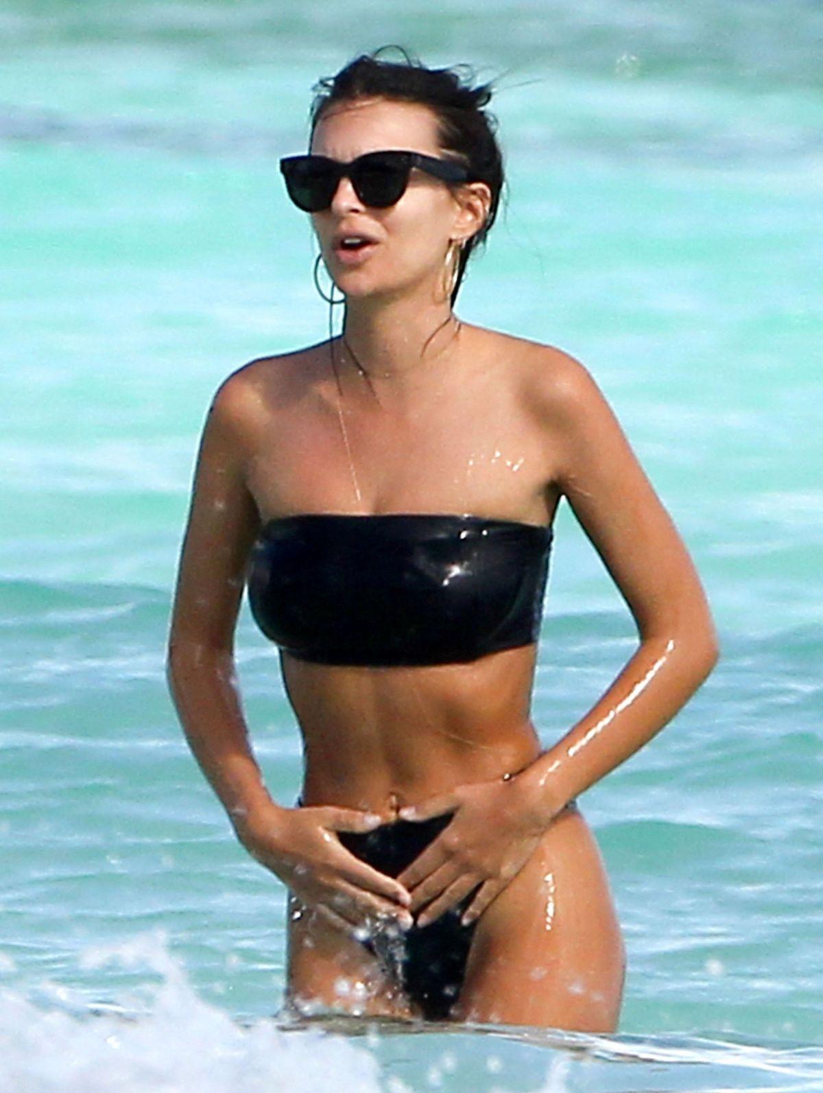 EMILY RATAJKOWSKI in Bikini on the Beach in Cancun 11/22/2016