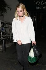 EMMA ROBERTS Out for Dinner in West Hollywood 11/16/2016